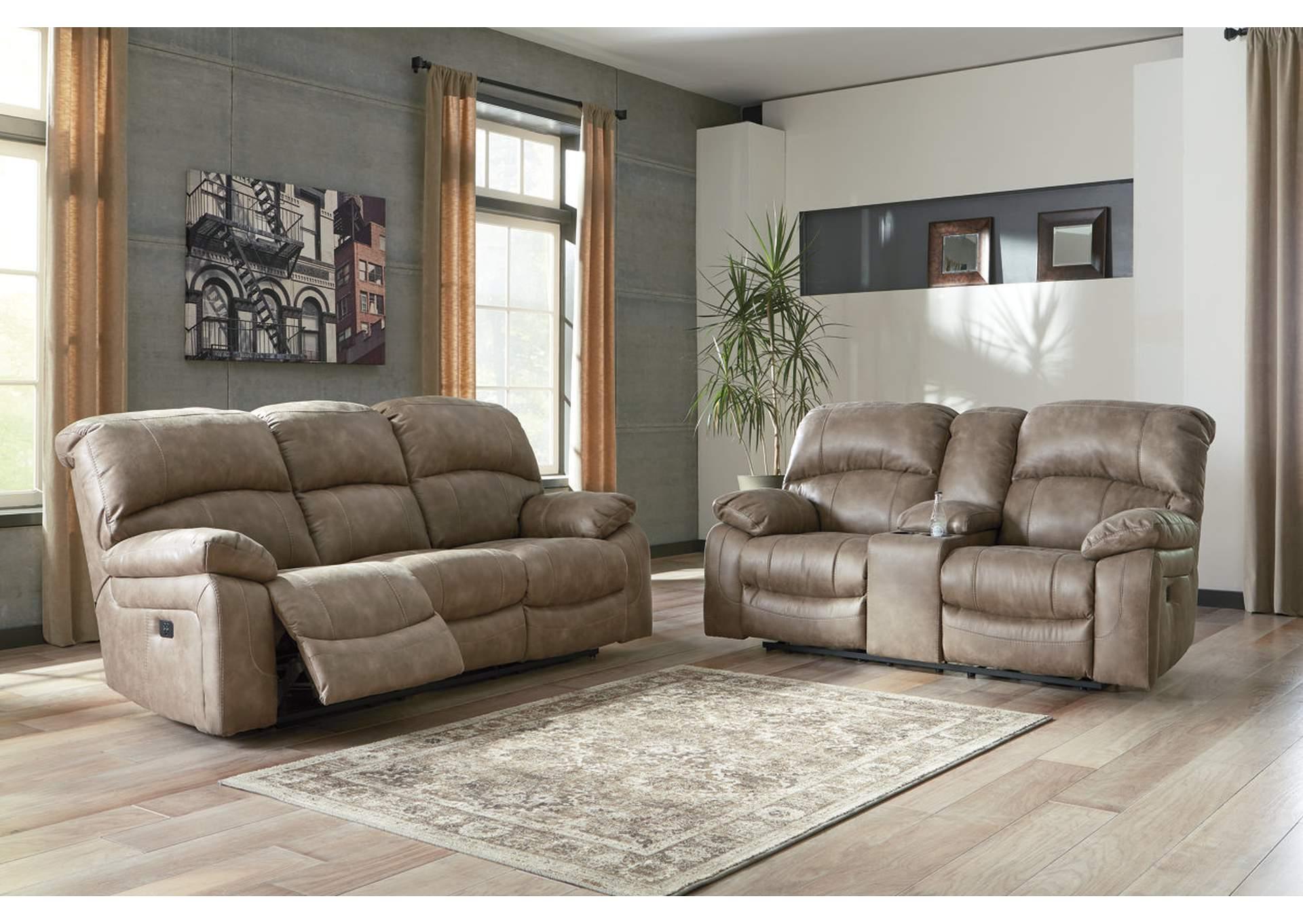 Southside Furniture Dunwell Driftwood Power Reclining Sofa