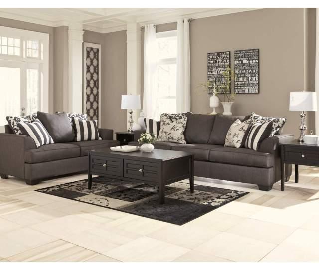 Levon Charcoal Sofa Loveseatsignature Design By Ashley