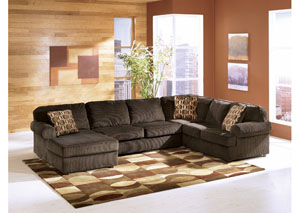 Sleep Cheap Furniture   Jersey City  North Bergen  Union City  Newark NJ Vista Chocolate Left Facing Chaise Sectional