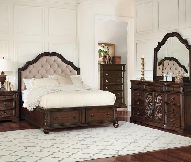 Furniture Outlet Chicago Llc Chicago Il Ilana Antique Java Cream Fabric Queen Storage Bed