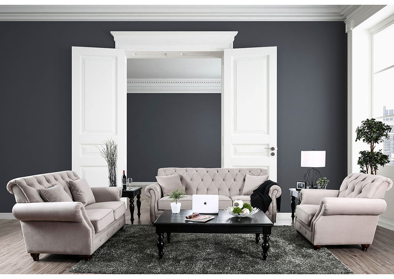 Gray Walls With Beige Couch Can I Do This