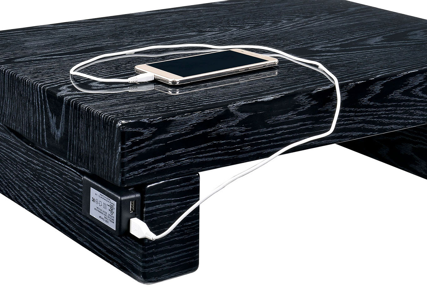 Direct Deal Furniture Christie Black Lacquer Nightstand
