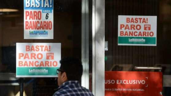 Martes y miércoles paran nuevamente los bancarios