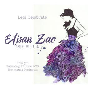 birthday invitaion customizable design