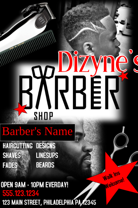 Barber Shop Template PosterMyWall
