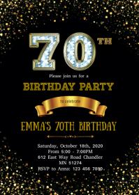 birthday invitation card customizable