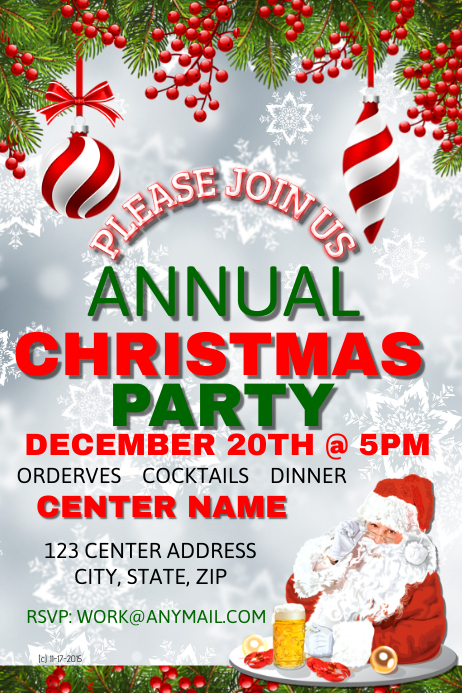 Annual Christmas Party Template PosterMyWall