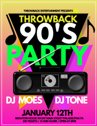 90s party template postermywall