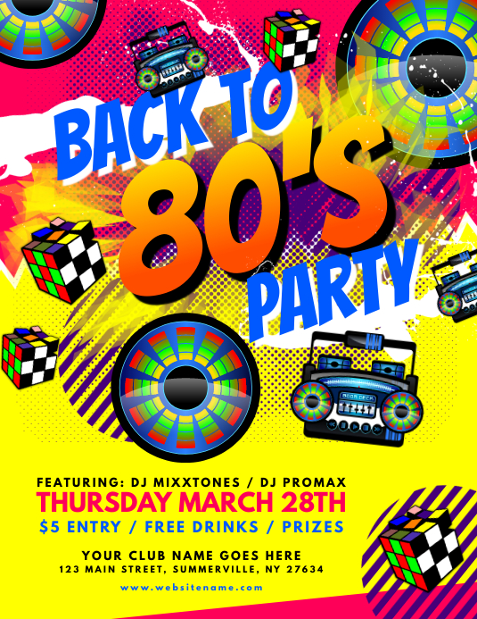 80s party invitation template - Monza berglauf-verband com