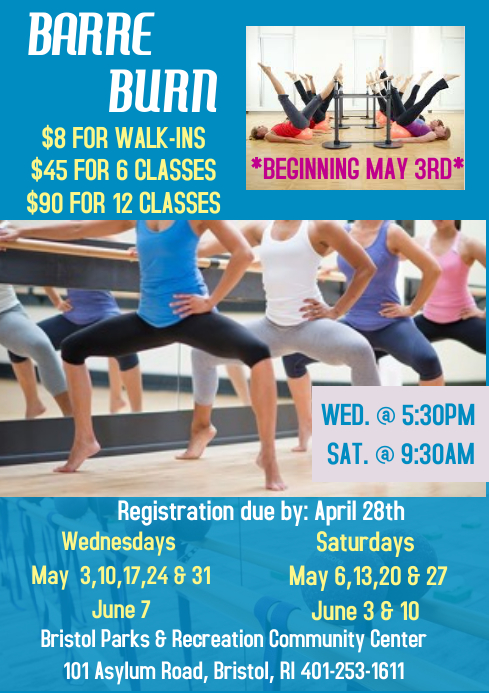Barre Burn Fitness Class Template PosterMyWall