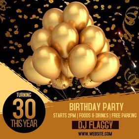 10 980 balloon birthday invitation