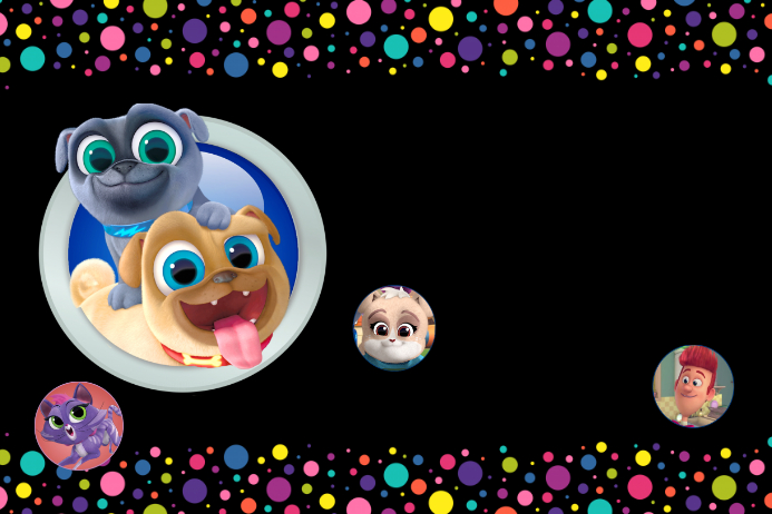 blank puppy dog pals template