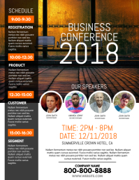 Event Flyer Templates   PosterMyWall Business Conference Flyer