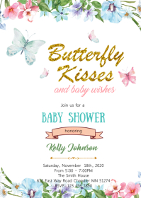 11 060 butterfly birthday invitation