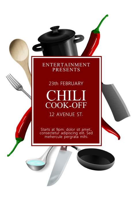 Copy Of Chili Cook Off Contest Template PosterMyWall