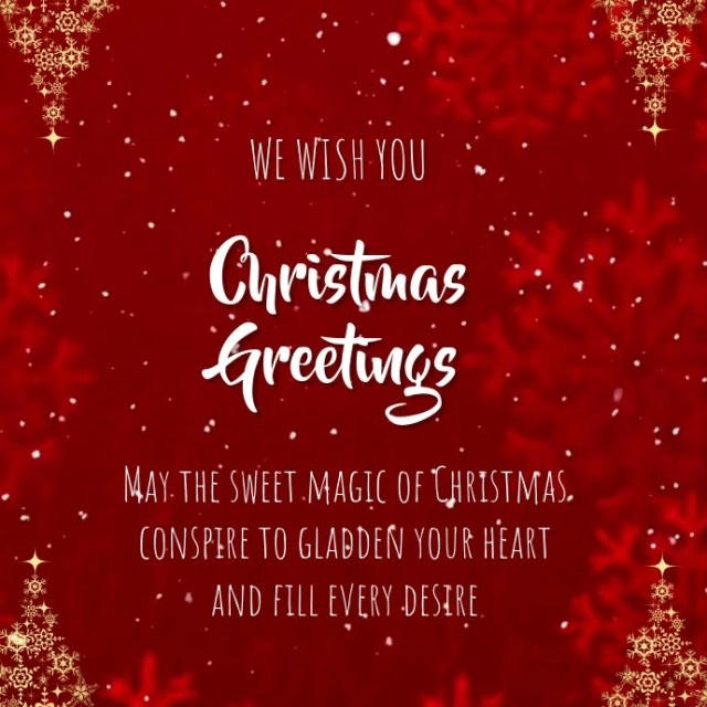 CHRISTMAS GREETING CARD Template | PosterMyWall