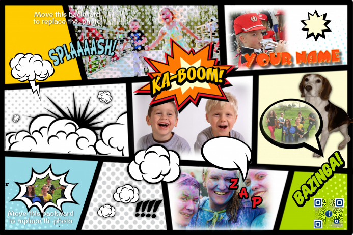 Comic Book Photo Collage Replace Photos By Using Your