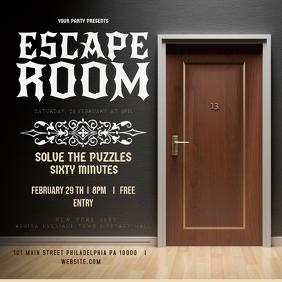 door escape room party invite template