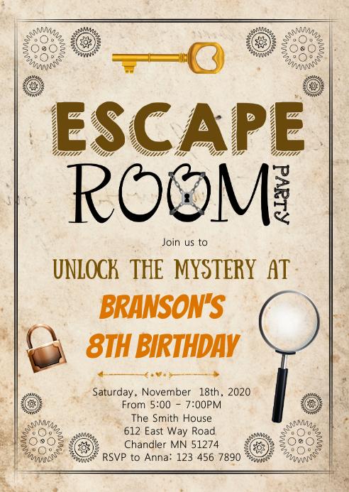 escape room boy geburtstagsfeier