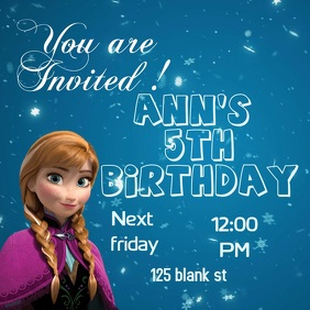 Frozen Birthday Invitation Template Party Flyer