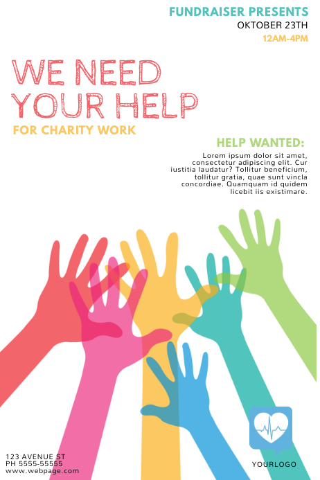 Customize 1340 Fundraising Poster Templates PosterMyWall