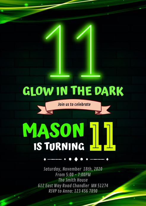 glow double digits 11th birthday