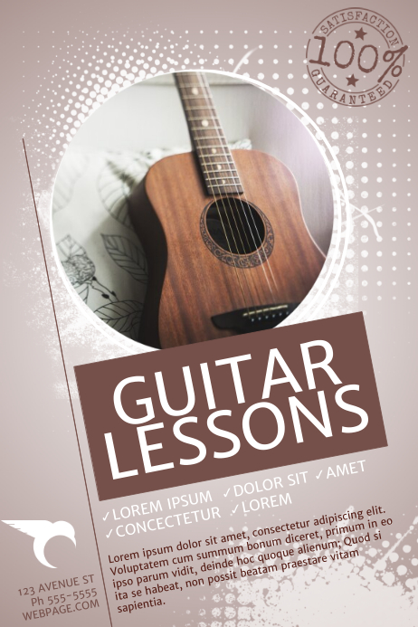 Guitar Lessons Flyer Template PosterMyWall