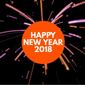 New Year Video Templates   PosterMyWall Happy New Year  Season s Greetings Video Template