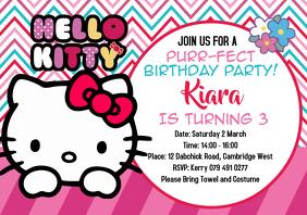 hello kitty birthday party customizable