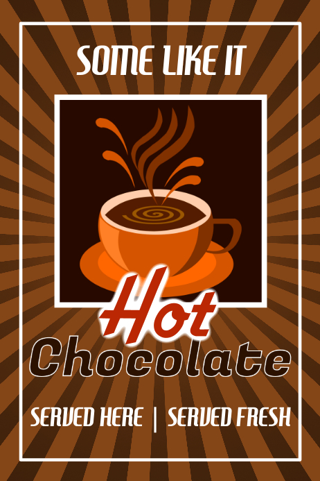 Hot Chocolate Template PosterMyWall