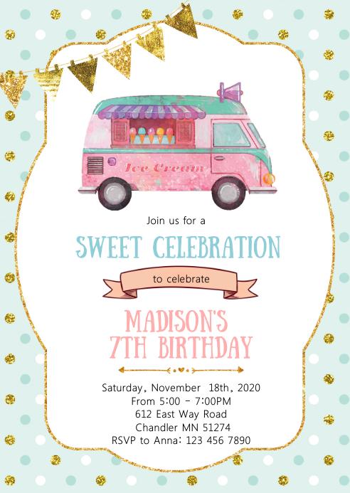 ice cream truck birthday party