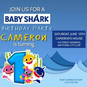 1 510 baby shark customizable design
