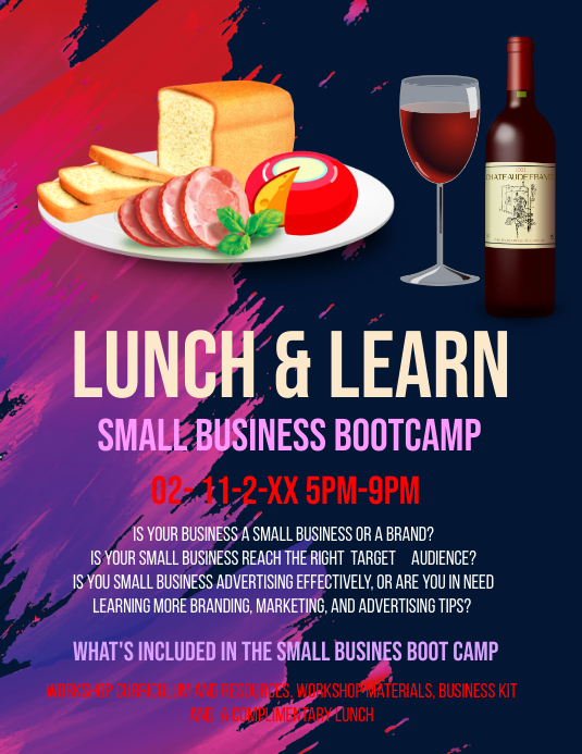 Champlain College Publishing  Luncheon Flyer Template