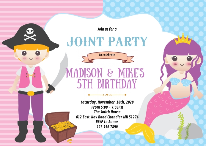 mermaid and pirate birthday party
