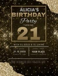 10 870 21st birthday invitation