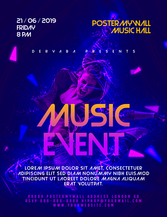 music event flyer template postermywall