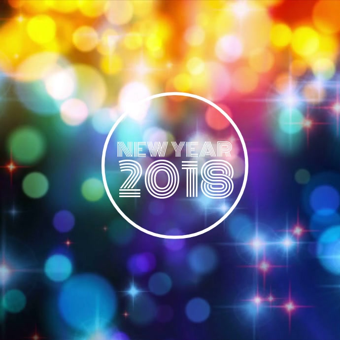New Year 2018 Template   PosterMyWall New Year 2018      Customize template