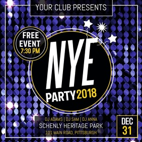 Customizable Design Templates for New Year Invitation   PosterMyWall New Year Party Instagram Video template