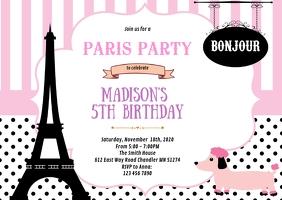 paris birthday party invitation