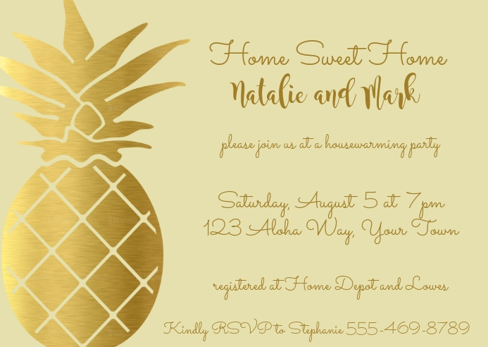 modele ananas invitation pendaison de
