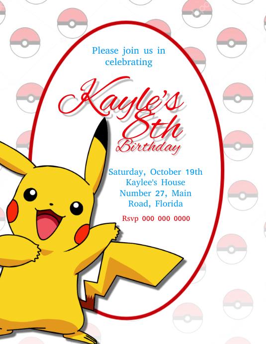 pokemon geburtstagsfeier einladung