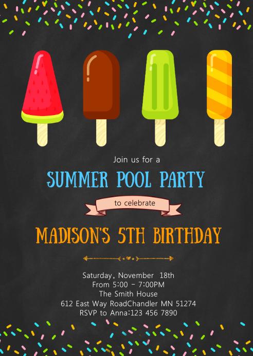 popsicle birthday invitation template