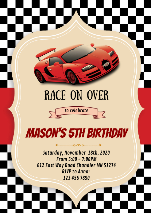 copy of race car birthday party