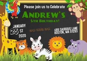 11 440 safari birthday invitation