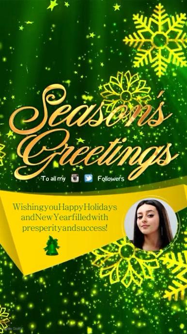 Seasons Greetings Video Template PosterMyWall