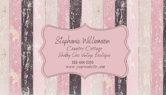 8x6 cm (6 tessere) area di stampa: Shabby Chic Rustic Wood Pink Business Card Template Postermywall