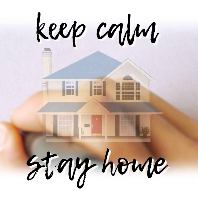 Stay Home Covid 19 Quote Instagram Template Postermywall