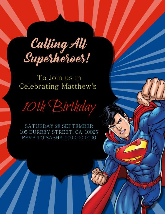 copy of superman birthday party
