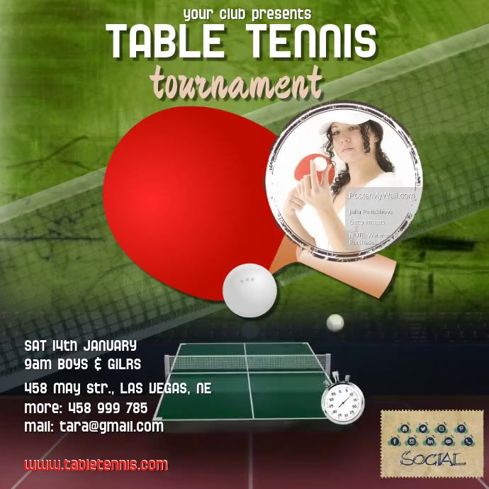 table tennis video1 Template   PosterMyWall