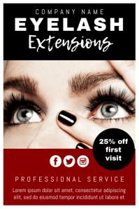 80 long lashes customizable design